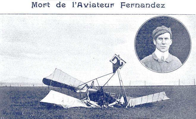 Aeropuerto Ciudad Lineal - En diciembre de 1909 fallecía en accidente el sastre rivereño Antonio Fernández, primer aviador español (4)