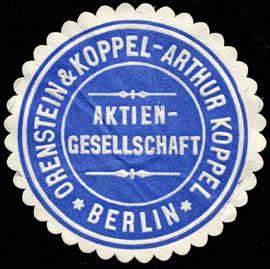 Tren del Cemento - Logo de la compañía Orenstein & Koppel, fabricante de los primeros trenes cementeros de Asland (3)