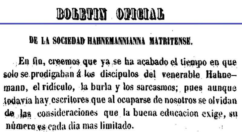 Museo de la Homeopatía - Los homeópatas no gozaban de buena reputación entre los médicos del Siglo XIX.