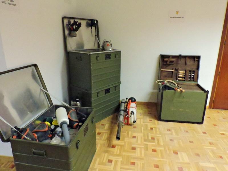 Museo Veterinaria Militar - Equipos DDD (desinsectación, desratización y desinfección).