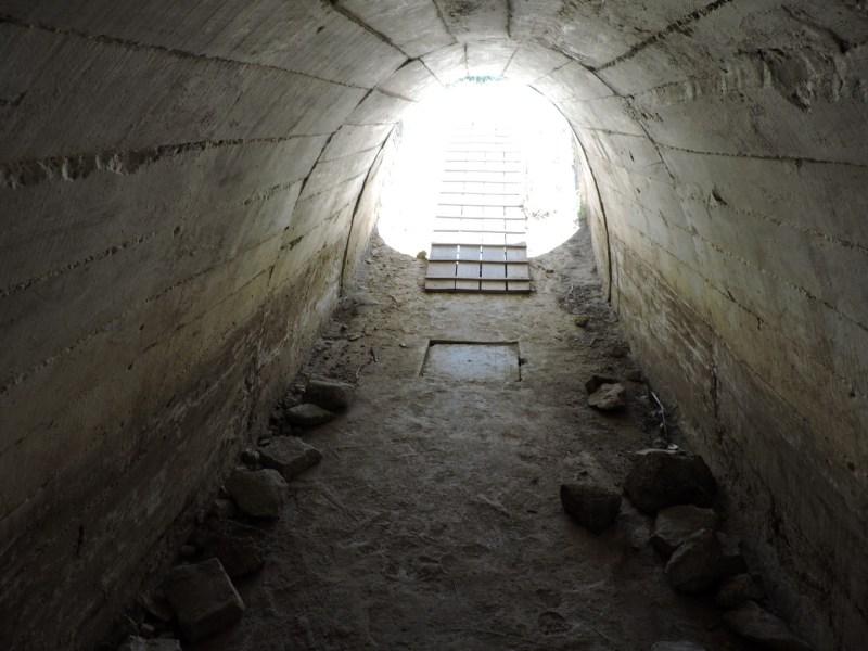 Blockhaus13 - Interior del túnel de acceso.