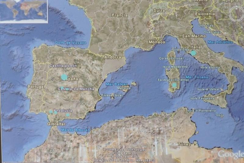 Deep Space Network - Red del Espacio Profundo - Madrid - La NASA estudió diversas localizaciones en Italia continental, Cerdeña, Andalucía y Madrid.