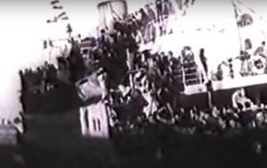 Museo División Azul - Llegada de prisioneros del Gulag ruso en el barco Semíramis. Llegaron divisionarios, pero también republicanos y niños de la guerra (12).