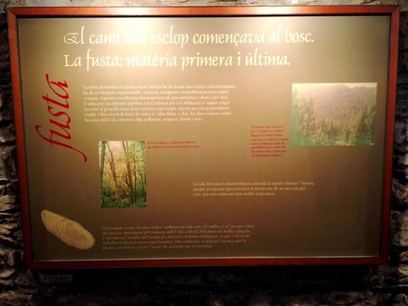 Museo del Zueco - Cartel explicativo.