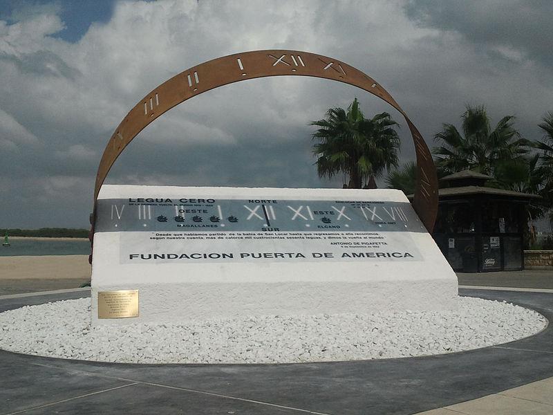 """El Galeón de Manila - Monumento """"Legua Cero"""", en Sanlúcar de Barrameda, para conmemorar la primera circunnavegación a la Tierra (3)."""