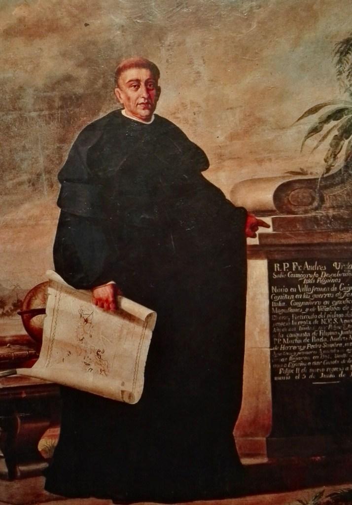 El Galeón de Manila - Andrés de Urdaneta, en hábito de fraile agustino.