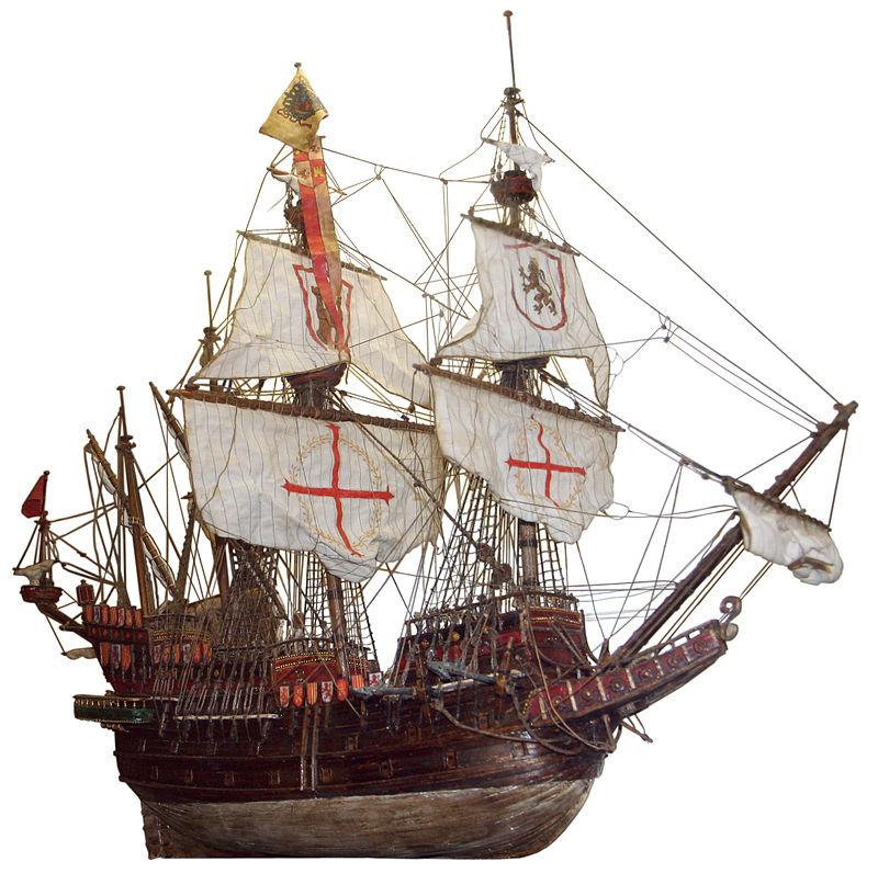 El Galeón de Manila - Galeón español, cuyo diseño fue copiado por otras potencias europeas (21).