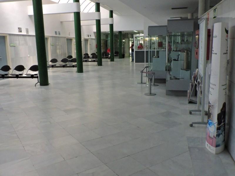 Museo Veterinario Complutense - Sala de espera del Hospital Veterinario, donde comienza la visita al museo.