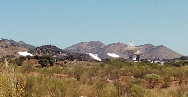 Museo Lunar - La antigua estación de Fresnedillas fue traspasada al Gobierno de España y hoy en día se realiza desde ahí el seguimiento de los satélites militares españoles, como PAZ e Ingenio.
