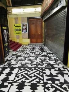 Escher en Madrid - Diversos patrones de Escher y muestras de teselados.