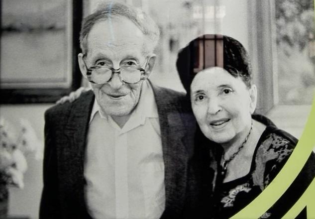 Exposición Theremin - León Theremín y Clara Rockmore en su reencuentro en Nueva York en 1991.