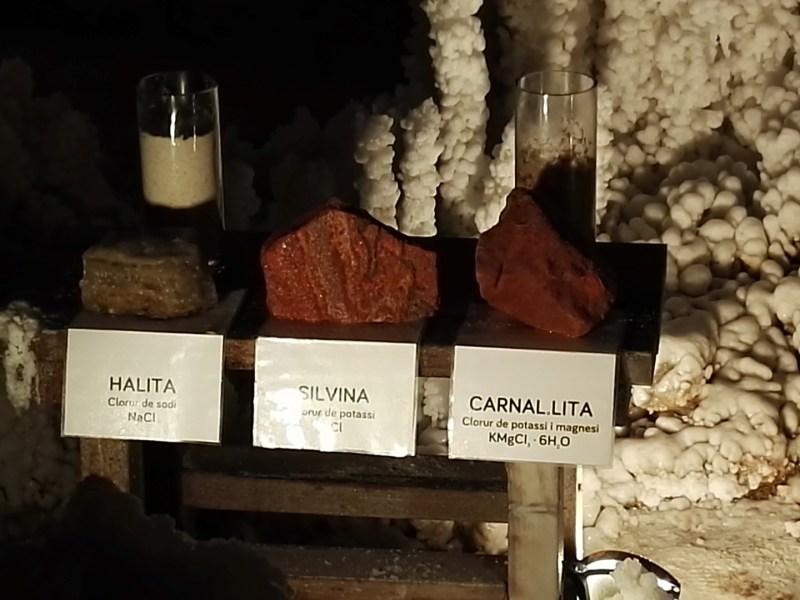 La Montaña de Sal - Minerales de halita, silvina y carnalita.