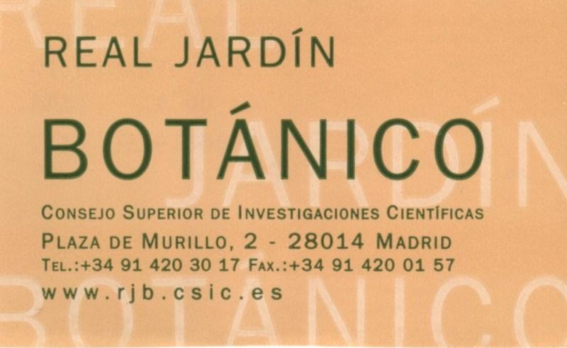 Jardín Botánico Madrid - Entrada al Real Jardín Botánico.
