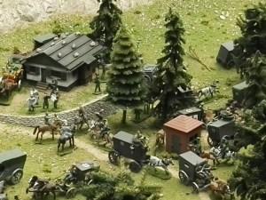 Museo de Miniaturas Militares - Ésta fue quizá la última guerra en la que la caballería jugó un papel importante.