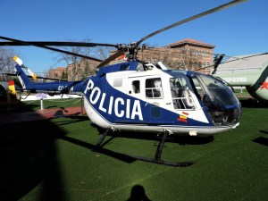 Museo del Aire - MBB Bo-105 CB. Primer helicóptero en realizar un looping y que fue usado tanto en la Policía Nacional, la Guardia Civil y el Ejército del Aire.