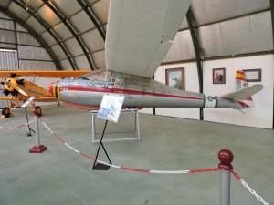 """Museo del Aire - Vogt Lö-100 """"Zwergreiher"""", planeador acrobático del campeón de acrobacia aérea Sebastián Almagro."""