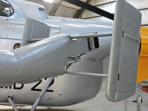 Museo del Aire - Se puede ver que este helicóptero no dispone de rotor antipar, sino que se sustituye por una tobera de aire y timones verticales.