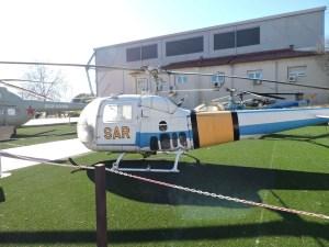 Museo del Aire - Augusta-Bell 47 J-3 B-1. España tuvo tres entre 1965 y 1983, destinados a tareas SAR.