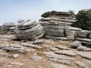 El Torcal de Antequera - En esta zona, las formaciones rocosas son espectaculares.