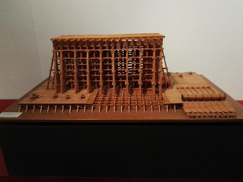 Maquetas y Modelos Históricos - Andamiaje de la Catedral de San Isaac, diseñado por el canario Agustín de Betancourt.