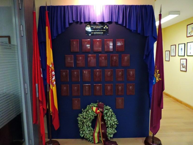 Museo Policía de Madrid - Recuerdo a los 27 fallecidos en acto de servicio.