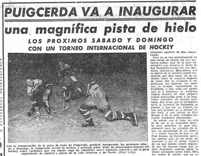 El Jugador de Hockey - Para el Festival Internacional de Hielo, se construyó una pista al aire libre (11).
