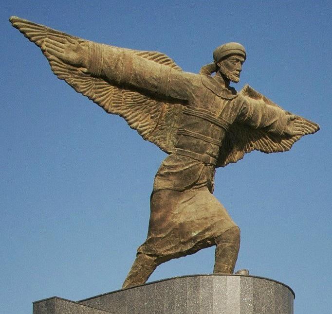 El vuelo de Diego Marín - Abbas Ibn Firnas, primer hombre en diseñar y usar un paracaídas (6).