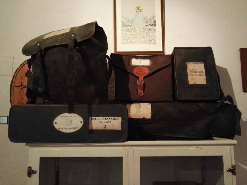 Museo de la Bripac - Equipo médico lanzable de Sanidad Militar.