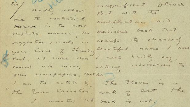 Carta Oscar Wilde Malta