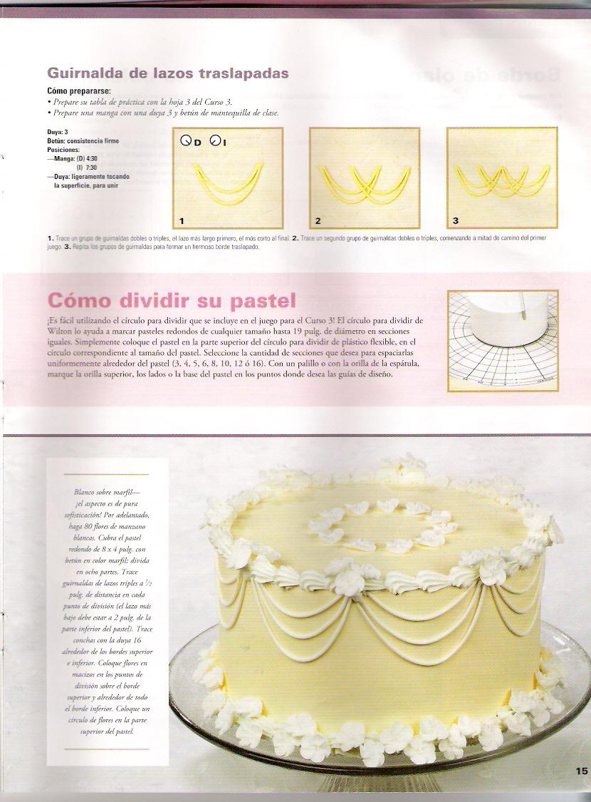 Aprende a hacer detalles bordes y guirnaldas en tortas