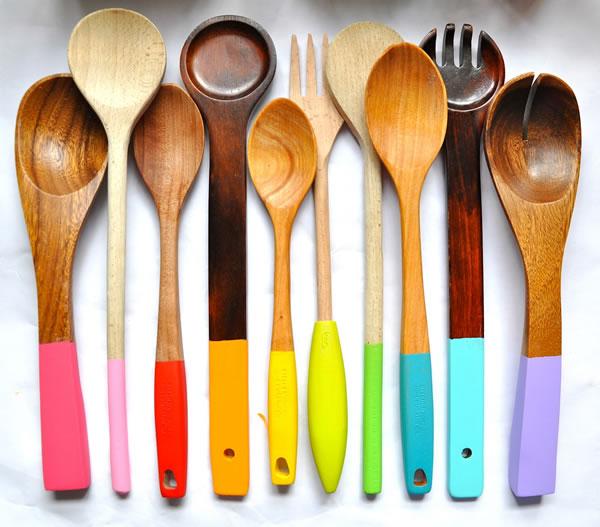 Pintar utensilios de cocina