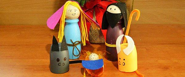 Manualidad de Belén de Navidad