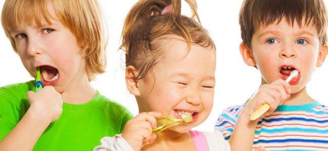 Higiene dental de los niños