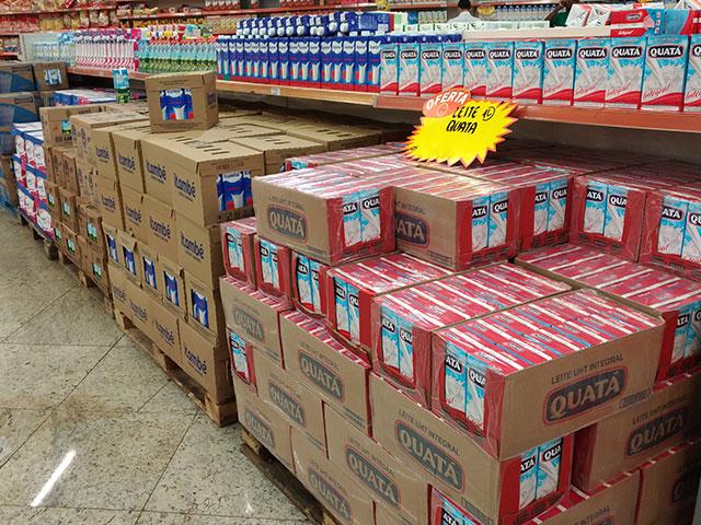 Preços do leite UHT e da muçarela seguem em valorização