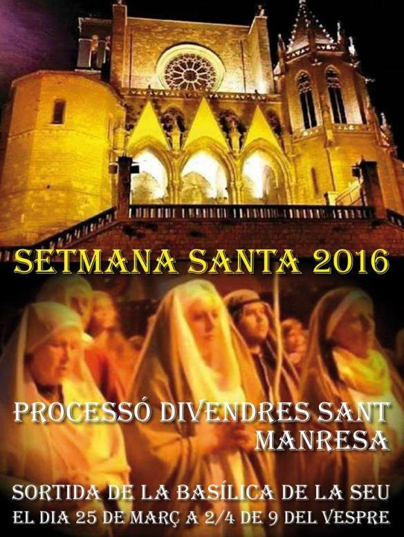 cartell setmana santa 2016 manresa
