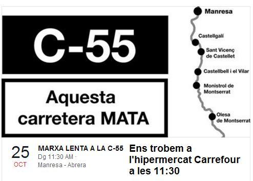 cartell marxa lenta c-55