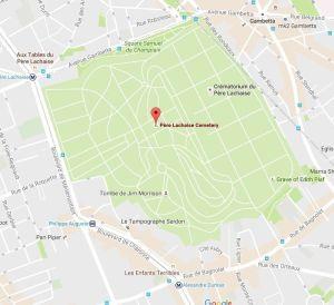 mapa cementerio Pére Lachaise