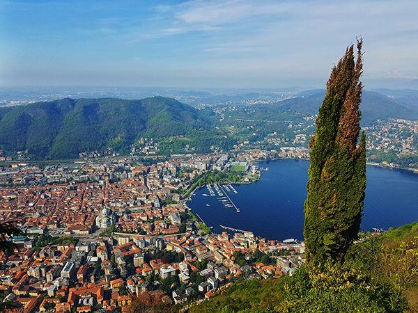 Vista del lago Como desde Brunate