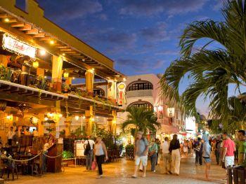 Quinta Avenida em Playa del Carmen