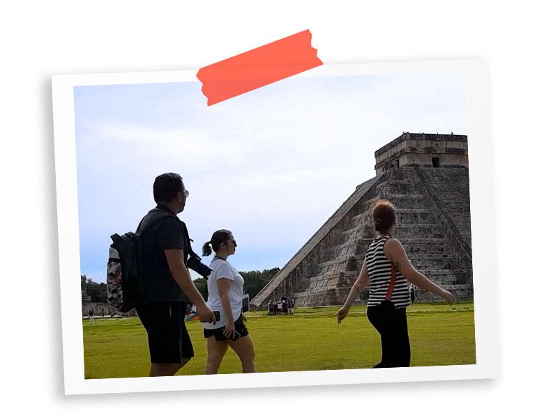 Webérie México além de Cancún - Rafael, Claudia e Quésia