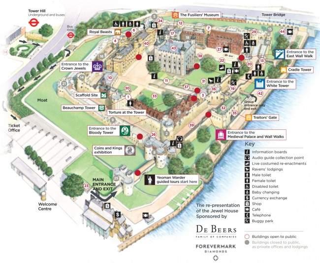 Mapa de Tower of London