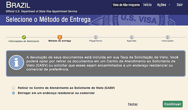 entrevista do visto americano