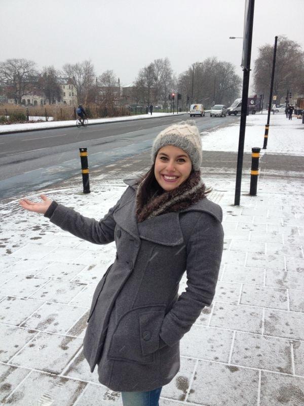 Mala para Londres no inverno