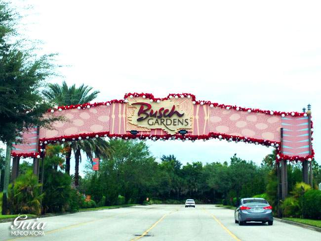 Portal de entrada do Busch Gardens