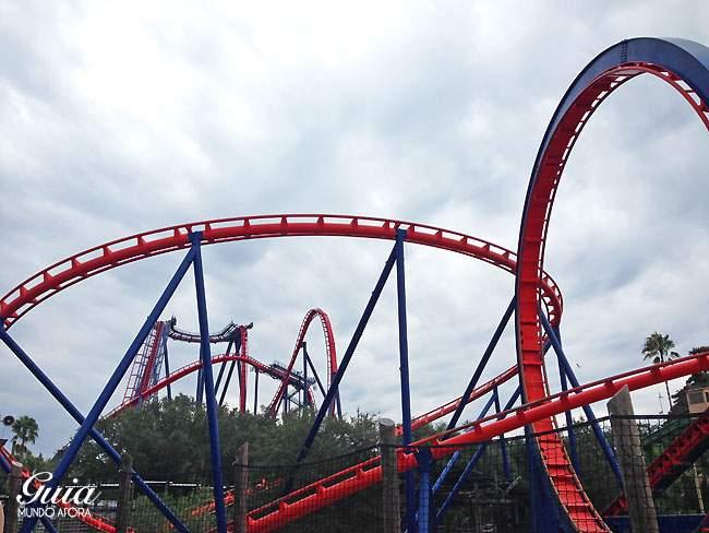 Montanha russa Sheikra no Busch Gardens