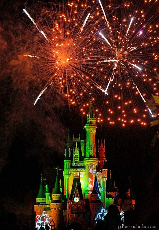 Fogos de Halloween da Disney