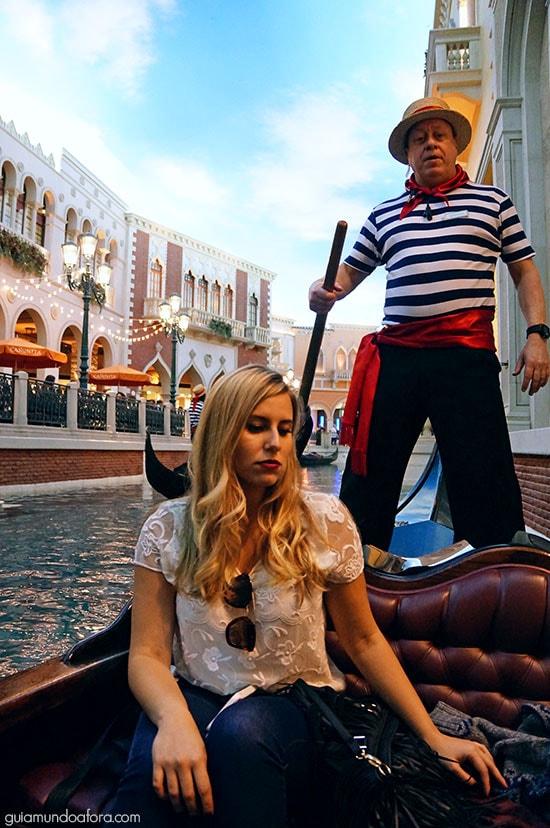 gondoleiro em Las Vegas