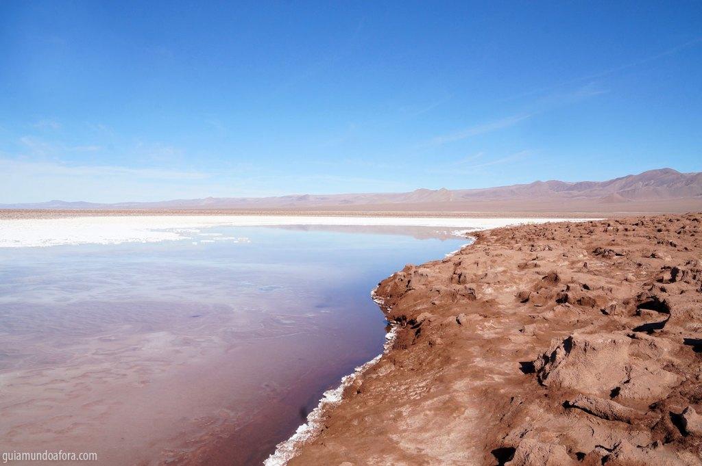 Lagunas Escondidas no Deserto do Atacama