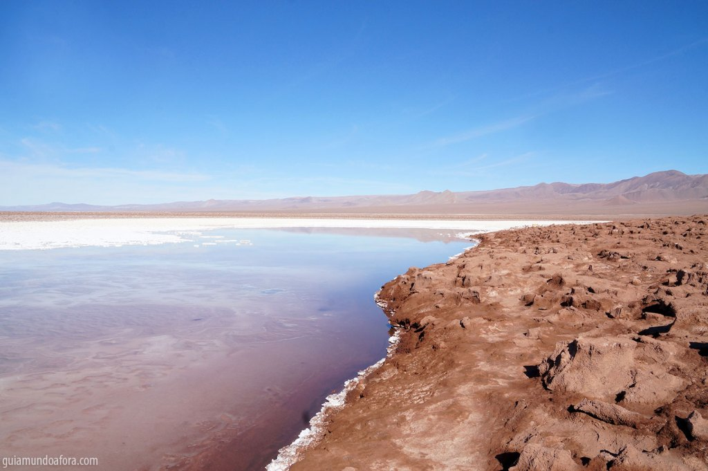 Lagunas Escondidas no Deserto do Atacama