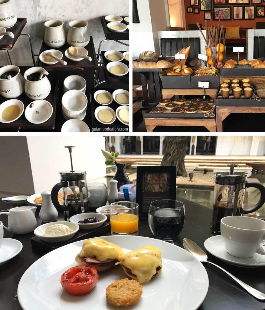 Café da manhã no hotel Park Hyatt Siem Reap